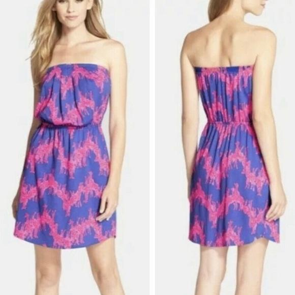 Lilly Pulitzer WINDSOR Giraffe Strapless Dress